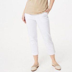 Bob Mackie Pull-On Crop Pants with Side Slits 1368